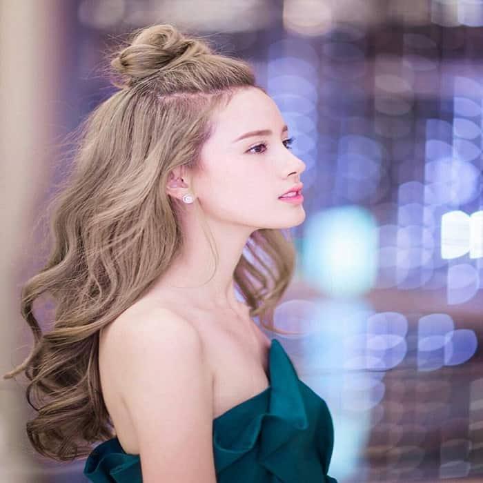 Các kiểu tóc búi dễ thương