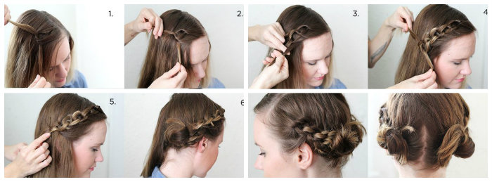 Cách tết tóc tiểu thư1