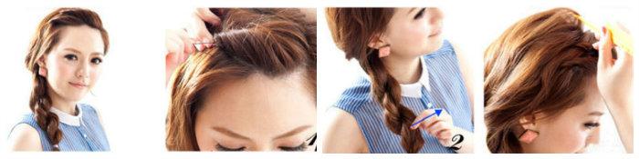 Cách tết tóc tiểu thư3