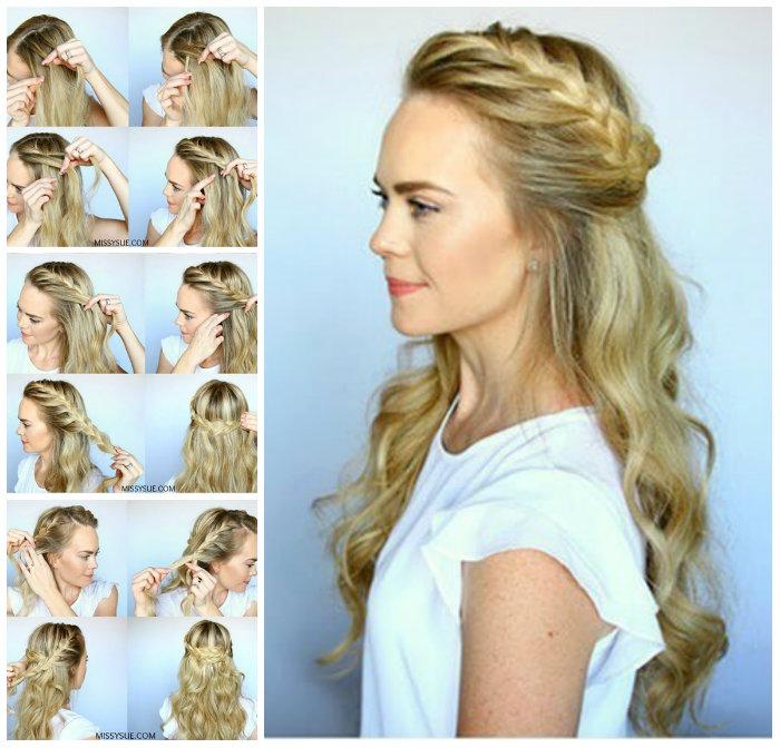 Cách tết tóc tiểu thư6