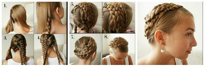 Cách tết tóc tiểu thư7