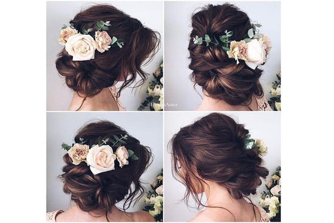 Tóc búi cô dâu dáng thấp