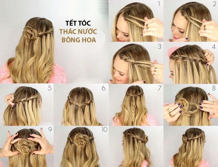 các kiểu tết tóc đẹp tự làm 12