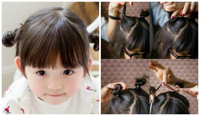 cách buộc tóc đẹp cho bé gái tóc ngắn 1