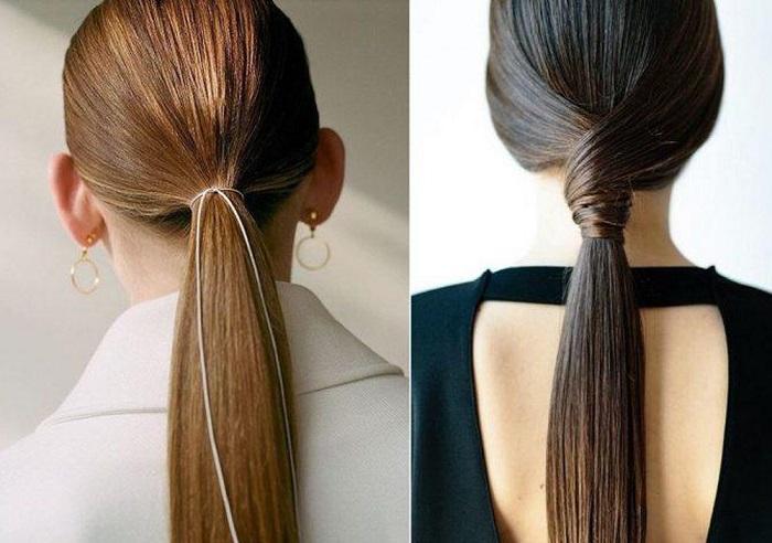 cách buộc tóc dài thẳng 1