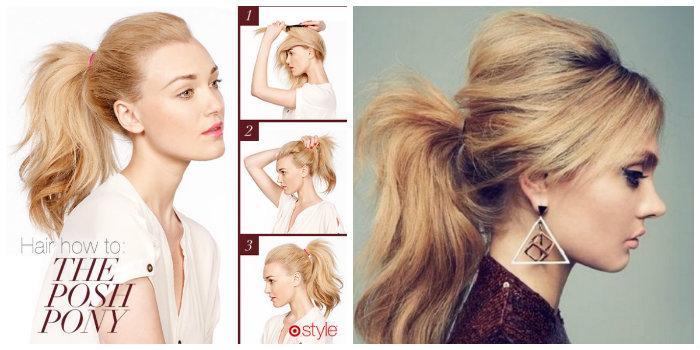 cách cột tóc cao phồng 2