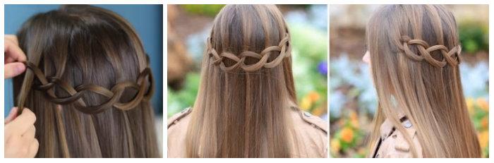 cách tết tóc thác nước 4-2