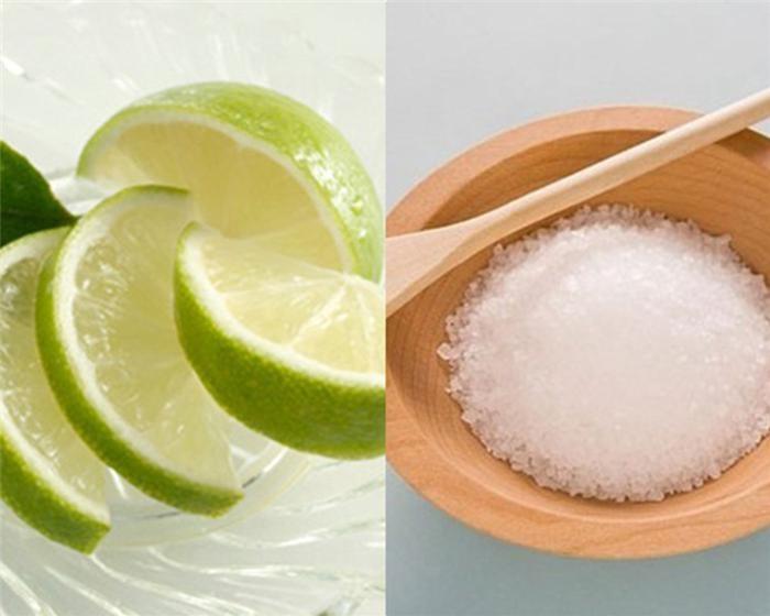 Tẩy trắng răng bằng muối và chanh
