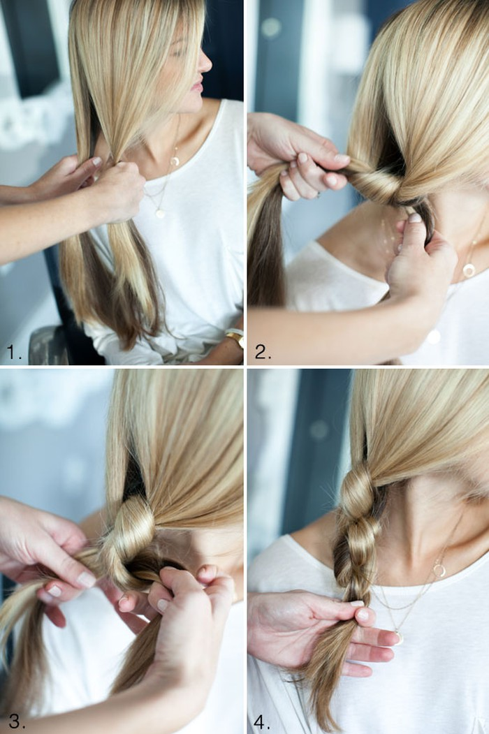 tết tóc 2 sợi