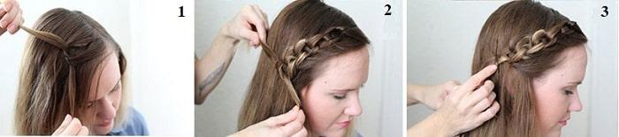 Thắt tóc 2 sợi