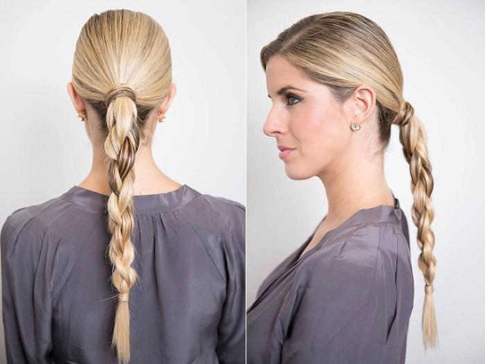 tóc tết 4 sợi