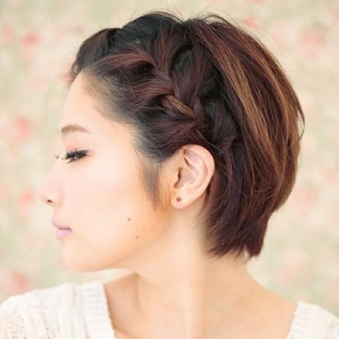 Tết tóc nửa mái