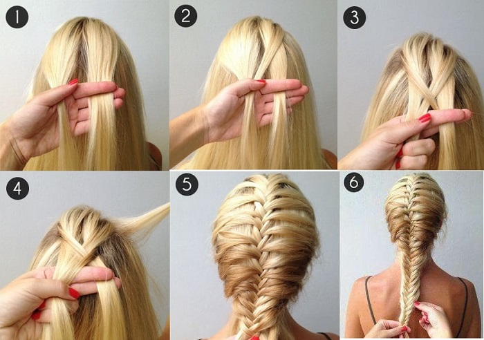 Cách tết tóc xương cá