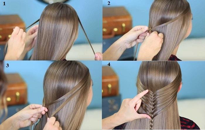 tết tóc xương cá nửa đầu