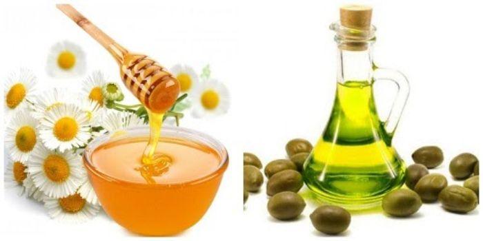 Mật ong và dầu oliu trắng da