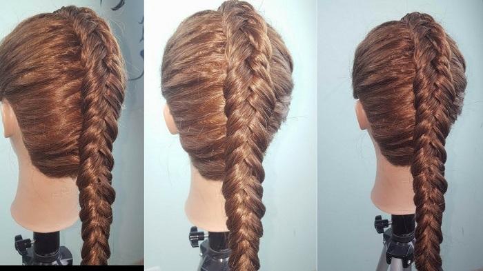 tết tóc dài đơn giản 1