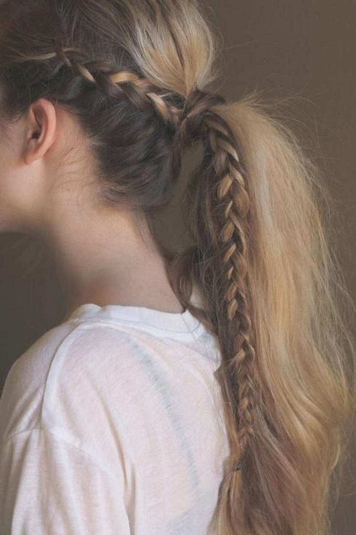 những kiểu tết tóc dài đơn giản 5