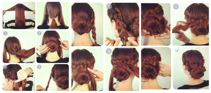 kKiểu tết tóc dài đơn giản 7
