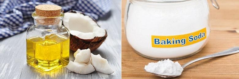 Sử dụng dầu dừa và baking soda làm trắng răng