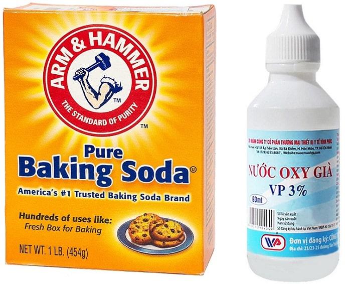 oxy già và baking soda giúp làm trắng răng