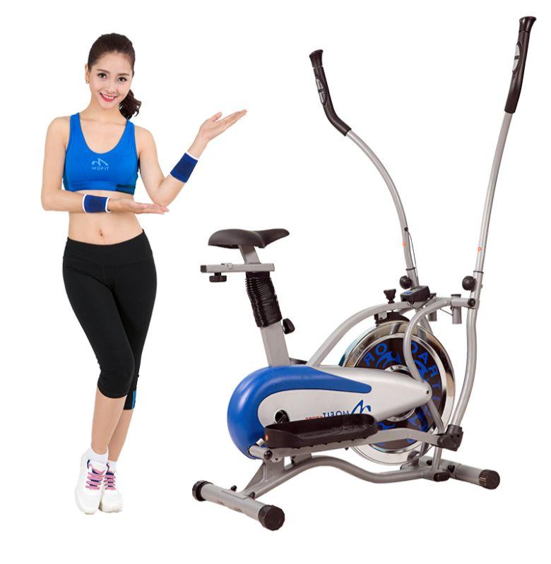 Bài thể dục đạp xe cùng máy tập
