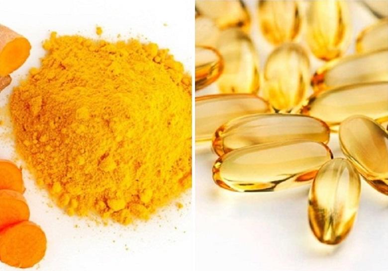 vitamin E và bột nghệ trị nám