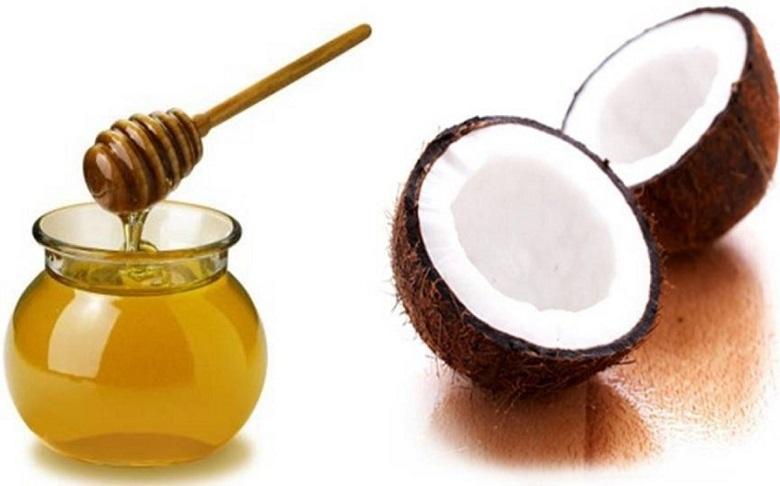 dầu dừa và mật ong