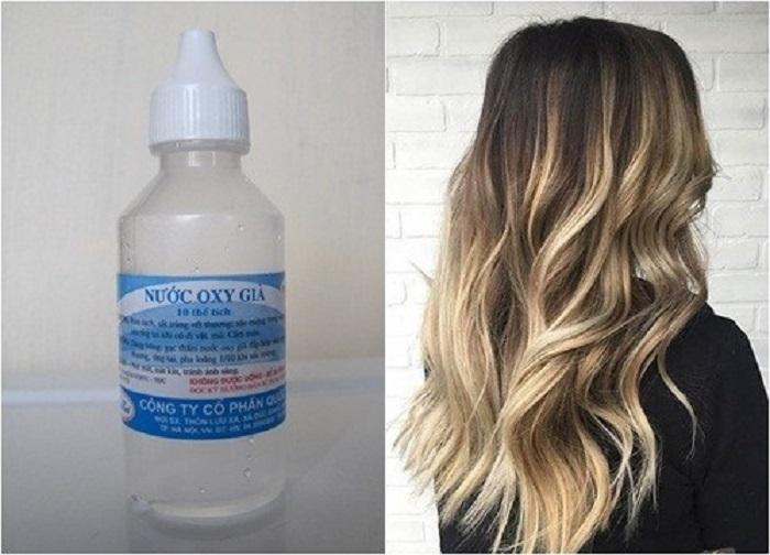 Dùng oxy già để tẩy tóc cũng là một gợi ý hay