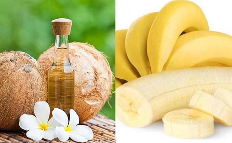 Dầu dừa và chuối trị nám da