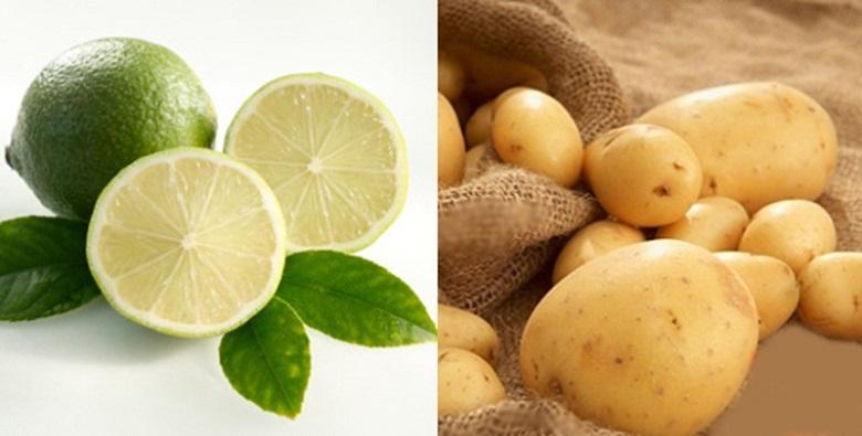 khoai tây và chanh trị nám