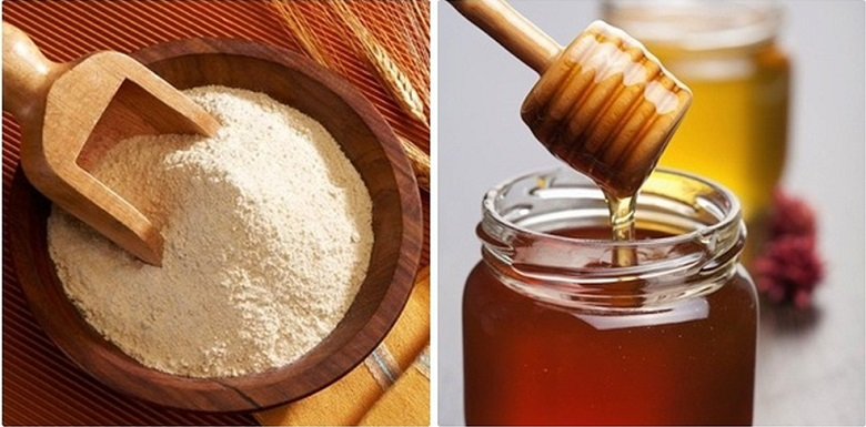 mật ong và bột mì