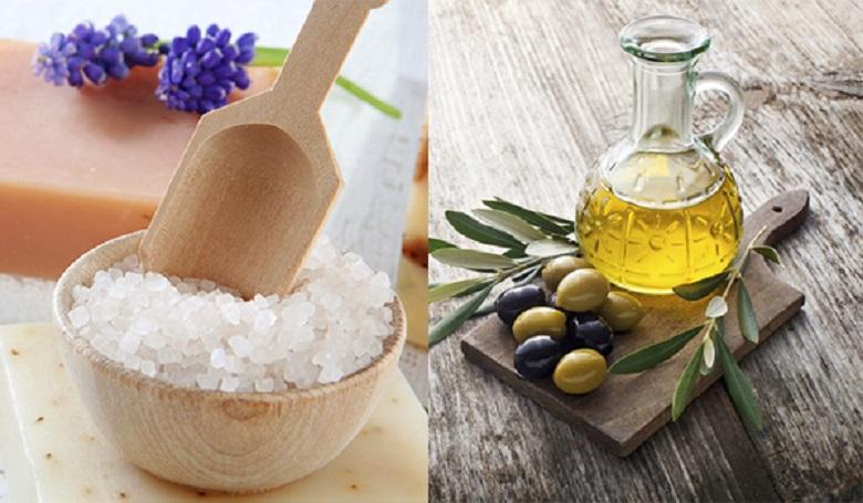 Muối và dầu olive