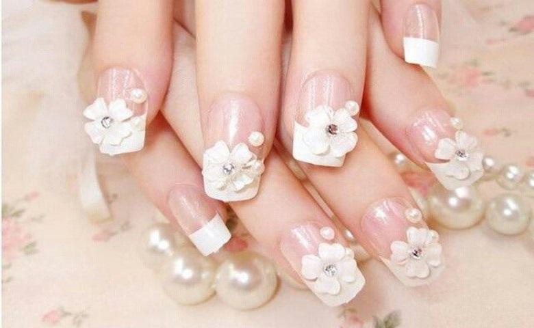Mẫu nail hoa