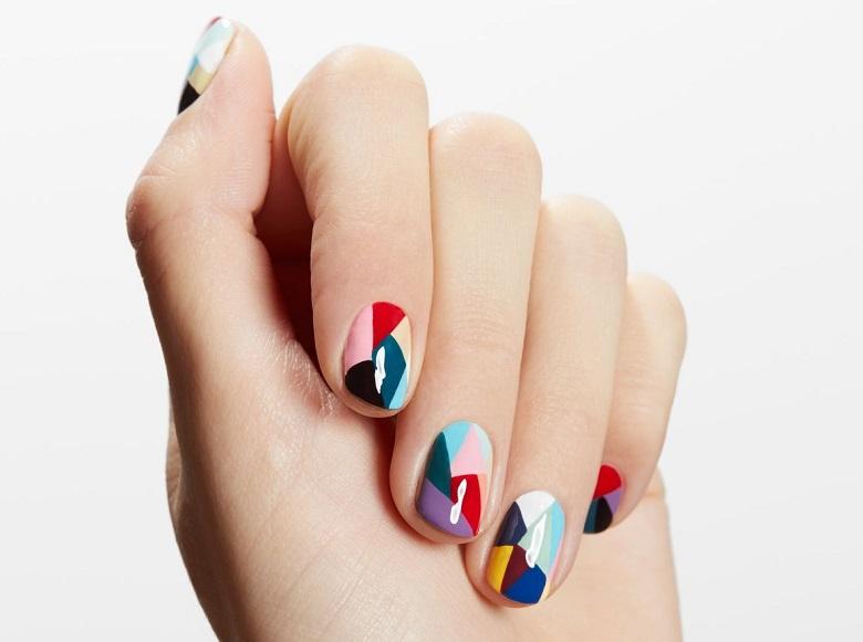 Mẫu nail hình học