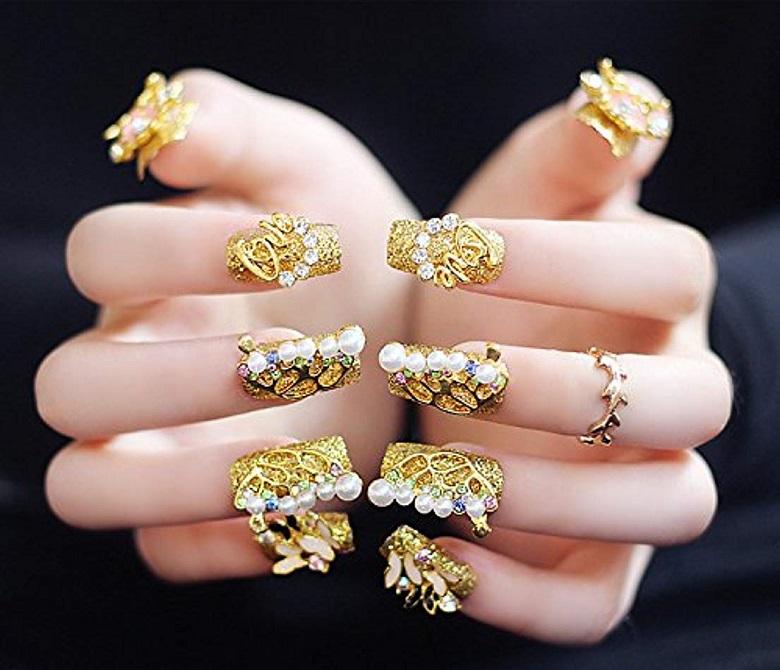 Mẫu nail đẹp cho cô dâu