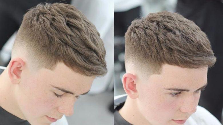 Gội sạch tóc và da đầu trước khi tạo kiểu tóc textured crop