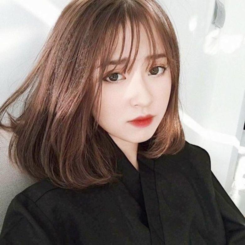 Tóc nữ đẹp Hàn Quốc nhuộm màu cá tính