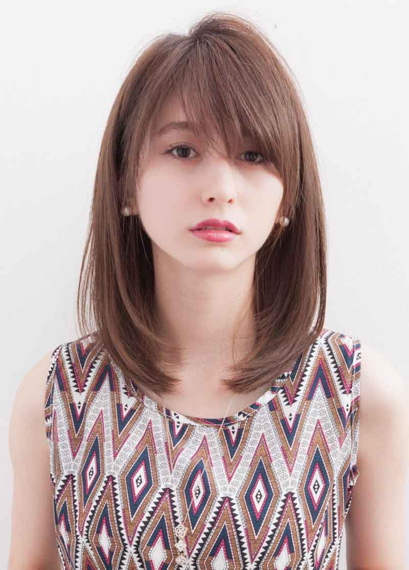 Mẫu tóc phù hợp với cô nàng có khuôn mặt tròn to