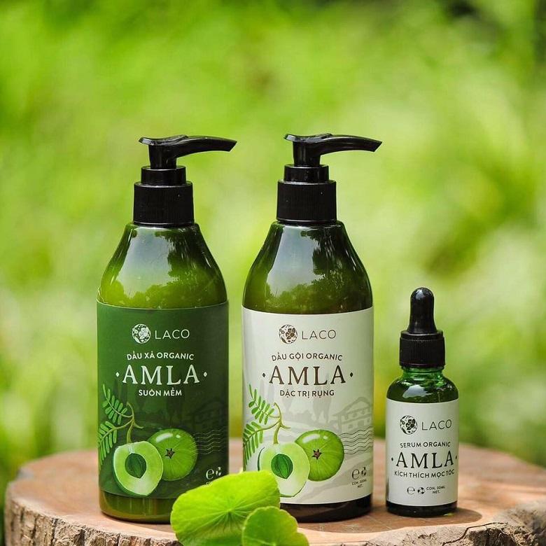 Chứa đến 85% thành phần hữu cơ, dầu gội Amla chắc chắn là sự lựa chọn lý tưởng cho mẹ sau sinh